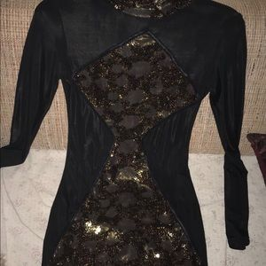 Black sequence dress Size Large